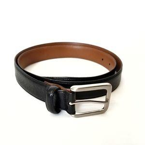 Mens Warehouse Black Italian Leather Belt Size 38